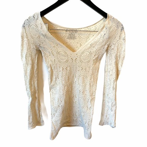 Intimately free people stretch lace cutout shirt